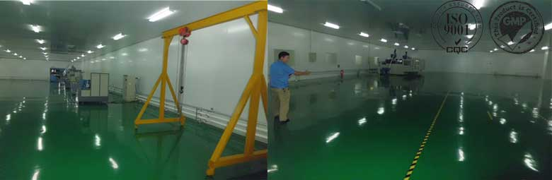 One hundred thousand square Plastic bottle dust-free workshop (ISO-9001, ISO 13485, GMP)